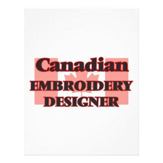 Concepteur canadien de broderie prospectus 21,6 cm x 24,94 cm