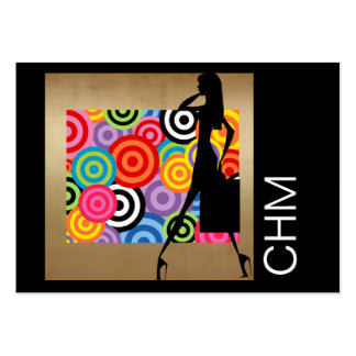 Concepteur d'ouvrière couturière de mode carte de visite grand format