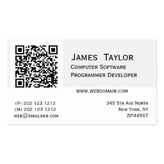 Concepteur élégant formel d'informaticien carte de visite standard