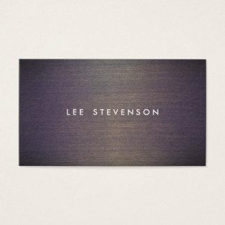 Concepteur en bois simple de professionnel de cartes de visite
