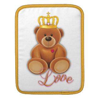 Concepteur tampon Sleeve Case sac couronne ours en Poches iPad
