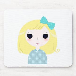 Concepteurs Manga blond mignon Tapis De Souris