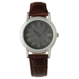Concepteurs noirs rustiques vintages de chiffre montres