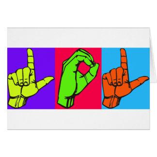 Conception #2 de langue des signes de LOL ASL Carte De Vœux