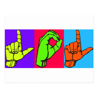 Conception #2 de langue des signes de LOL ASL Carte Postale