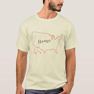conception à la maison de T-shirt de l'Amérique de