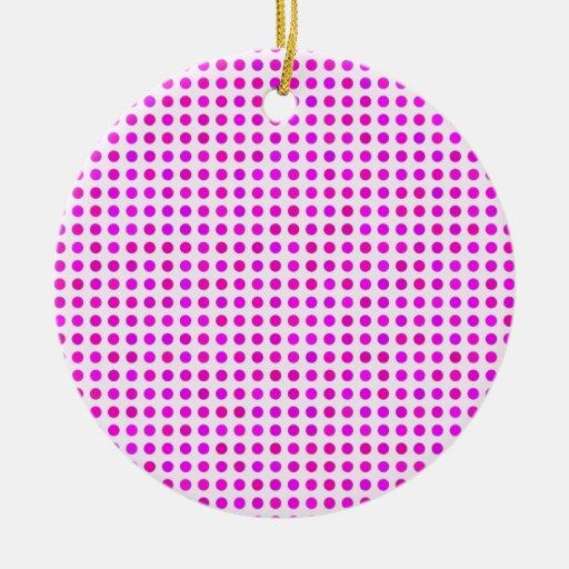 Conception à la mode rose colorée de motif de poin ornements