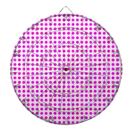 Conception à la mode rose colorée de motif de poin jeux de fléchettes