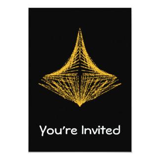 Conception abstraite, ardemment ambre et noir carton d'invitation  12,7 cm x 17,78 cm
