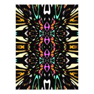Conception abstraite colorée Art de motif de Invitations