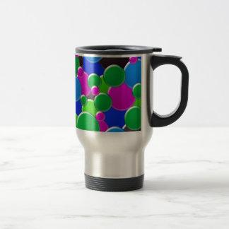 Conception abstraite colorée de bulles mug de voyage
