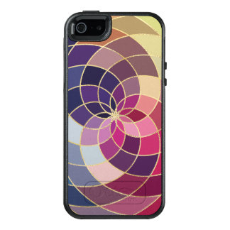Conception abstraite colorée extraordinaire coque OtterBox iPhone 5, 5s et SE