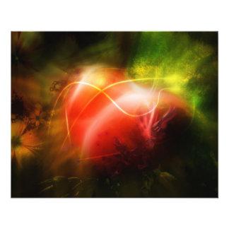 Conception abstraite d'art de coeur prospectus 11,4 cm x 14,2 cm