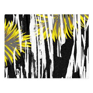 Conception abstraite de feuille de palmier carte postale