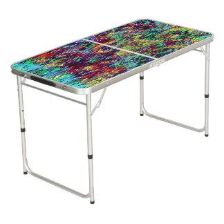 Conception abstraite de zigzags table beerpong