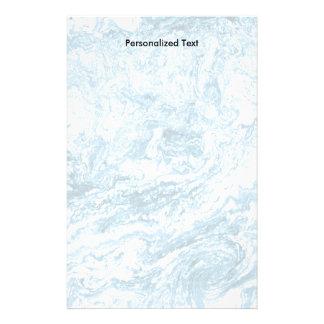 Conception abstraite marbrée   bleu et blanc papeterie