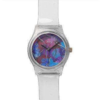 Conception abstraite pour la montre avec la bande