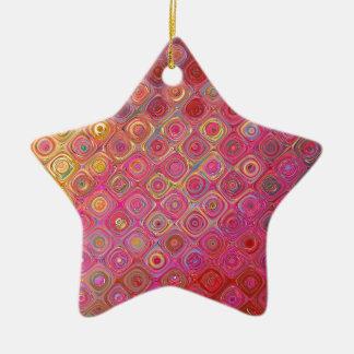 Conception abstraite rose de motif de remous ornement étoile en céramique