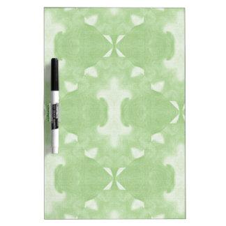 Conception abstraite verte de damassé tableau effaçable à sec