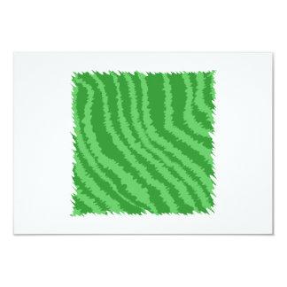 Conception abstraite verte carton d'invitation 8,89 cm x 12,70 cm