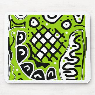 Conception abstraite verte tapis de souris
