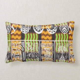 Conception africaine de motif coussin rectangle