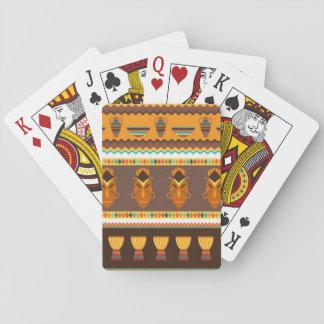 Conception africaine d'impression de motif de jeu de cartes