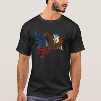 conception américaine de course de chevaux de t-shirt