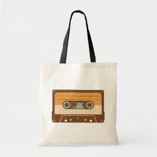 Conception analogue d'enregistreur à cassettes tote bag