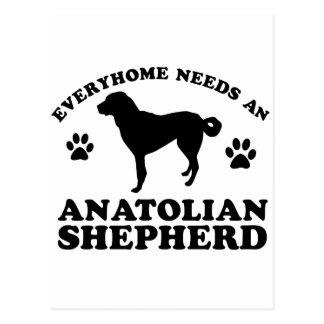 Conception anatolienne de vecteur de chien de cartes postales