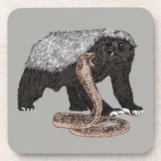 Conception animale courageuse de serpent de dessous-de-verre