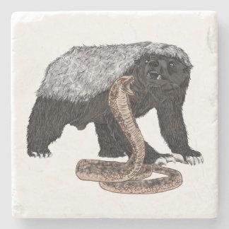 Conception animale courageuse de serpent de dessous-de-verre en pierre