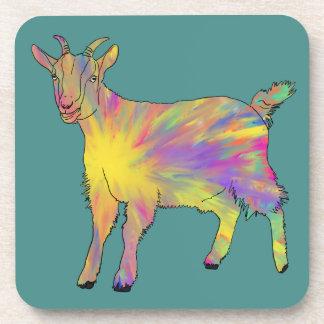 Conception animale d'art de chèvre Artsy drôle Dessous-de-verre