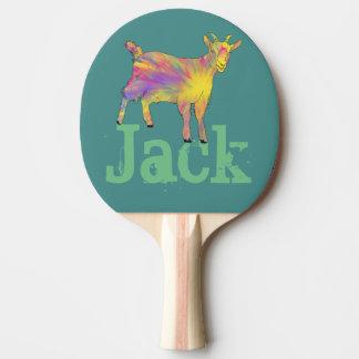 Conception animale d'art de chèvre Artsy drôle Raquette De Ping Pong