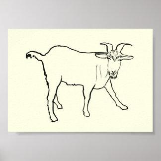 Conception animale d'art de dessin railleur drôle poster