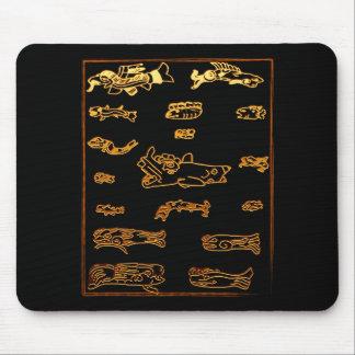 Conception animale maya d or frais tapis de souris