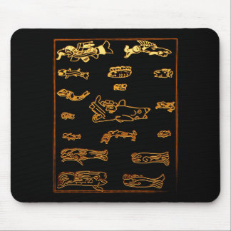 Conception animale maya d'or frais tapis de souris