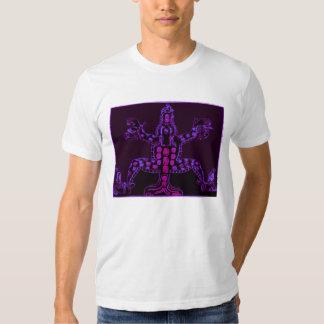 Conception animale maya pourpre fraîche t-shirt