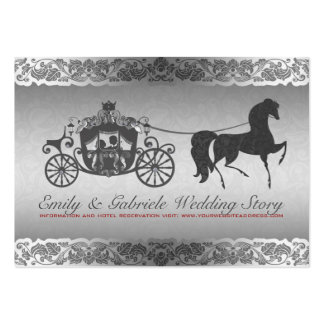 Conception argentée et noire de mariage de cheval  carte de visite grand format