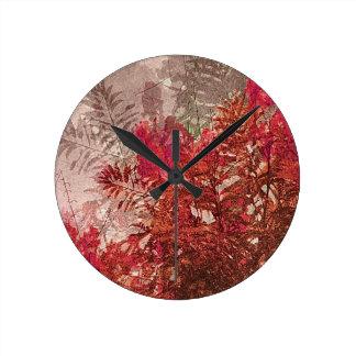 Conception artistique de feuille décoratif horloge