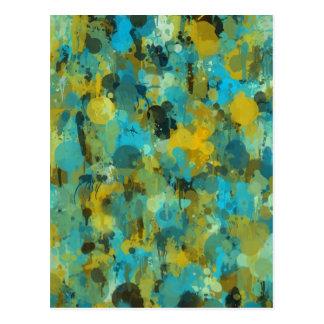 Conception artistique d'éclaboussure colorée de cartes postales