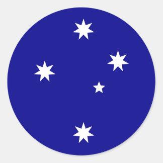 Conception australienne de drapeau sticker rond