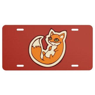 Conception blanche de dessin de ventre de Fox