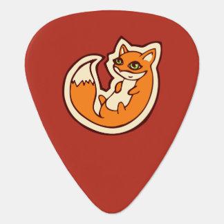 Conception blanche de dessin de ventre de Fox Onglet De Guitare