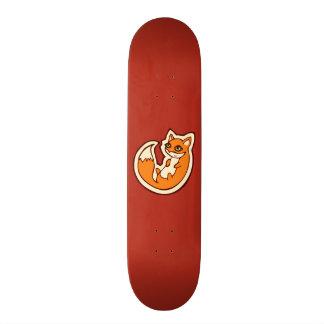Conception blanche de dessin de ventre de Fox Skateboard Old School 21,6 Cm