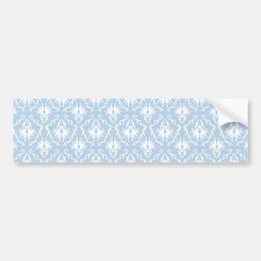 Conception blanche et bleu-clair de damassé autocollants pour voiture