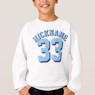 Conception blanche et de bleu des enfants | de sweatshirt