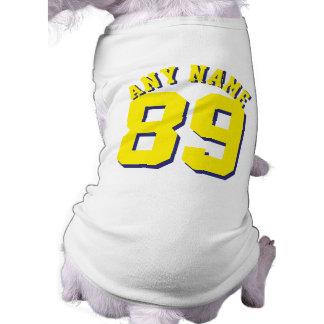 Conception blanche et jaune du Jersey de sports de T-shirt Pour Chien