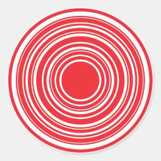 Conception blanche rouge d'oeil de taureaux de sticker rond