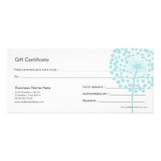 Conception bleue 4 de certificat-prime de fleur de doubles cartes